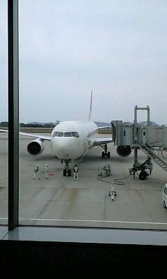 広島空港にて